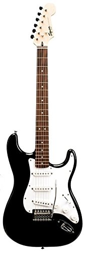 Fender Starcaster Strat Pack with Strings, Picks, Strap, Amp, 10-Foot Instrument Cable, Tuner, Gig Bag, and Instructional DVD - Black (Fender Amp Casters compare prices)