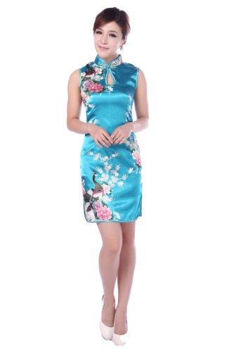 acvip-donna-cotone-misto-stampato-pavone-a-collo-v-cheongsam-senza-maniche-qipao-cinese-cina-s-eur-3