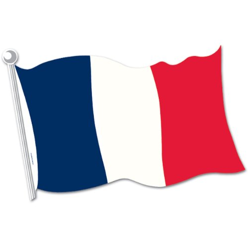 French Flag Cutout Party Accessory (1 count)