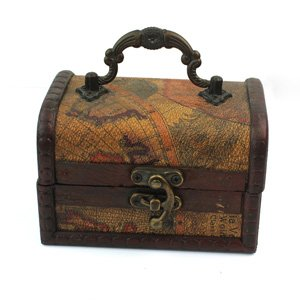 Chic Decorative Gift Vintage Gracious Wooden Jewelry Box Storage Organizer Case