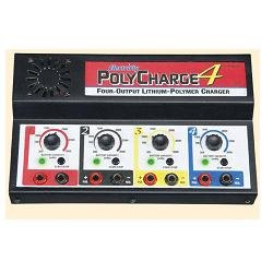 Great Planes PolyCharge4 DC Only 4 Output Li-Po Charger GPMM3015