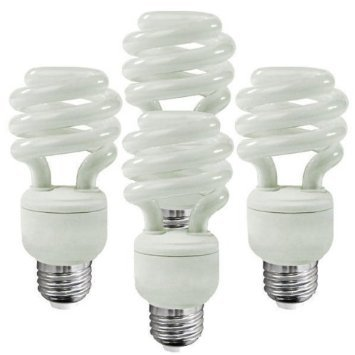 Ecosmart 9-Watt Warm White Compact Fluorescent Light Bulbs Cfl, 4-Pack
