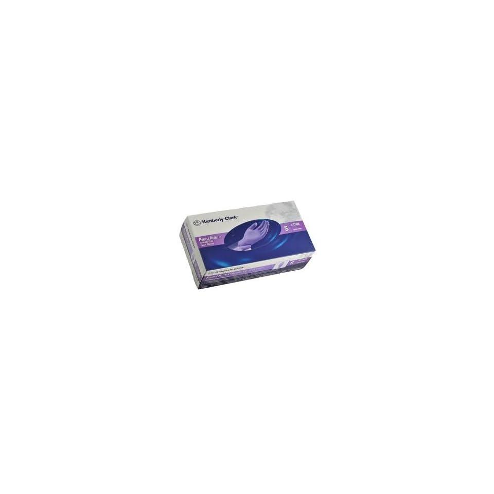 Kimberly Clark Purple Nitrile Exam Gloves, Box/100 SIZE MEDIUM (PACK OF 10)