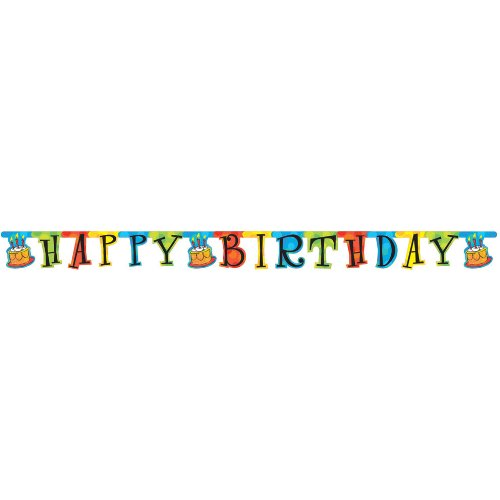 Cake Celebration Large Happy Birthday Banner