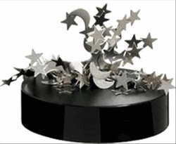 Magnetic Desktop Sculpture - Moon and Stars - 1