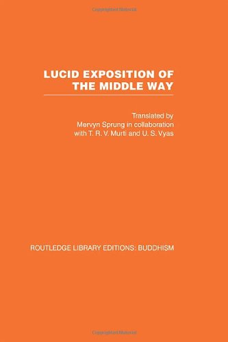 Lucid Exposition Of The Middle Way: The Essential Chapters From The Prasannapada Of Candrakirti front-769288