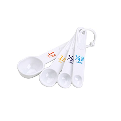 Good Cook Classic Set of 4 Plastic Measuring Spoons