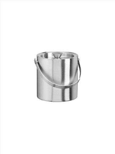 Kraftware Brushed Stainless Steel 1-1/2-Quart Doublewall Insulated Ice Bucket