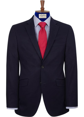 Austin Reed Contemporary Fit Navy Cotton Jacket REGULAR MENS 40