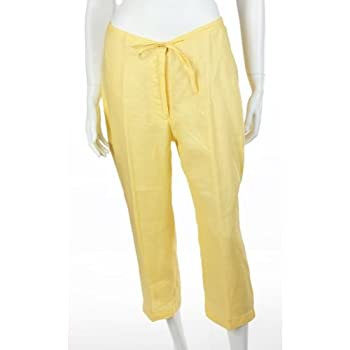 Women capri style pants. 100% irish linen