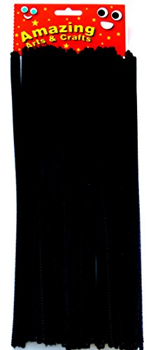 lot-de-100-tiges-en-chenille-noir-30-cm-x-4-mm