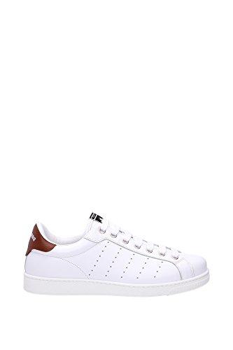 Sneakers Dsquared2 Herren Leder Weiß und Braun S16SN4030651062 Weiß 44EU thumbnail