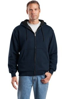 Cornerstone - Heavyweight Full Zip Hooded Sweatshirt With Thermal Lining. Cs620,4X Big,Navy