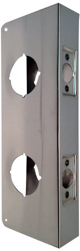 "Don-Jo 942-Cw 22 Gauge Stainless Steel Classic Wrap-Around Plate, Satin Stainless Steel Finish, 4"" Width X 9"" Height, For Double Lock Combination Locksets"