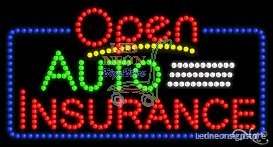 Auto Insurance LED Business Sign 17