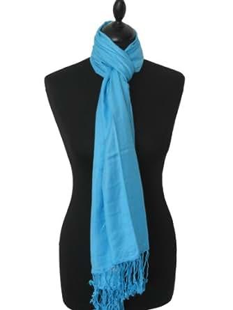 Amazon.com: Kuldip Unisex Pashmina Scarf Shawl Wrap Throw Turquoise