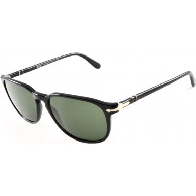 Persol PO3019S Sunglasses-95/31 Black (Crystal Green Lens)-55mm