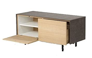 MUEBLE TELEVISION ANEXY MADERA ROBLE - COLECCIÓN CAMPMANY