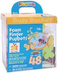 Darice Foam Kit Makes 48 Finger Puppets 1053-19J; 3 Items/Order