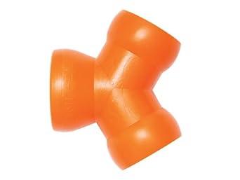 Loc-Line Coolant Hose Component,  Orange Acetal Copolymer, Y Connector