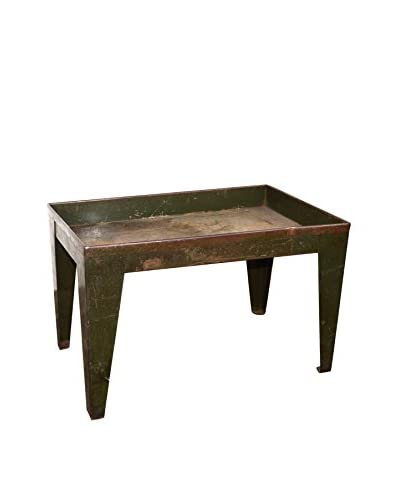 Uptown Down Previously Owned Green Low Industrial Metal Table