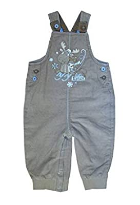 Baby Boy Dungaree Outfits Grey Renifer 0/3 3/6 6/9 9/12 months Winter NEW(A117)