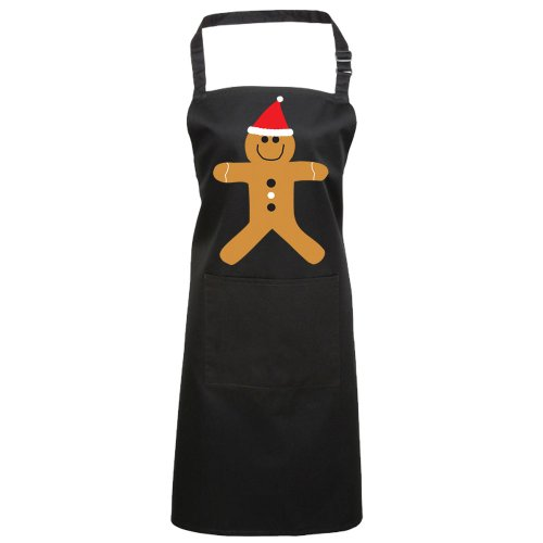 Batch1 Christmas Gingerbread Man Festive Fun Novelty Xmas Chefs Apron