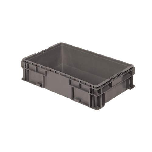 Buckhorn SW2415060206000 Plastic Straight Wall Storage Container Tote, 24-Inch by 15-Inch by 5.5-Inch, Dark Grey 4 inch 6 inch straight cup diamond grinding wheel for glass edger straight line double edging beveling machine m009