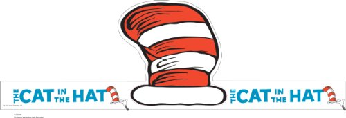 "Eureka Dr. Seuss's Cat In The Hat Wearable Hat Cut-Out, 32 Hats, Approx 8"" Tall Each"