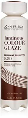 John Frieda Brilliant Brunette Liquid Shine Clear Glaze, 6.5 Fluid Ounce