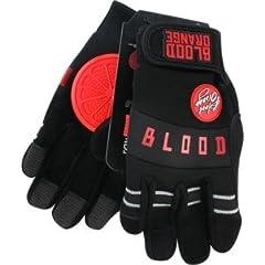 Buy Blood Orange Knuckles Black Red Large X-Large Slide Gloves Skateboard Pads by Blood Orange
