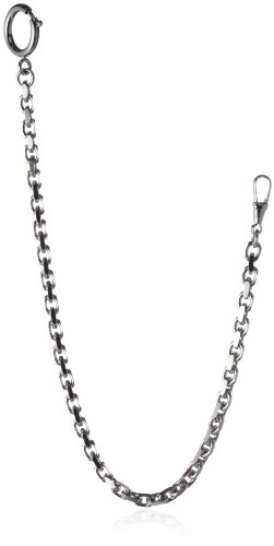 MTS Men's Pocket Watch Chain Anchor Diamond Covered 30cm A1,70/30dia Steel Coloured