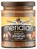 Meridian Peanut Butter Crunchy, Organic 280g
