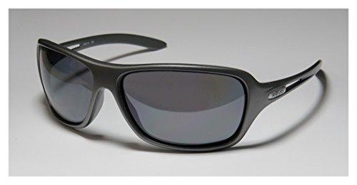 Revo Men's Highside L RE4049-04 Polarized Rectangular Sunglasses,Dark Grey Frame/Graphite Lens,one size