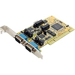 StarTech.com PCI2S232485I 2 Port RS232/422/485 PCI Serial Adapter Card with ESD Protection