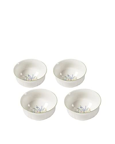 "Mikasa Set of 4 Botanical Bouquet 6"" Cereal Bowls"