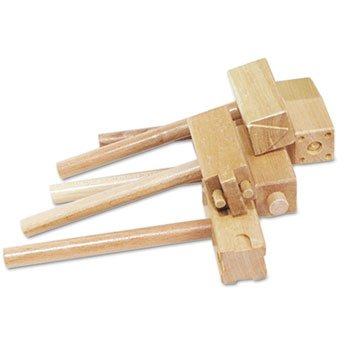 3 Pack Wooden Clay Hammers with Two Patterns Each, Five by THE CHENILLE KRAFT COMPANY (Catalog Category: Paper, Pens & Desk Supplies / Art & Drafting / Clay & Accessories)
