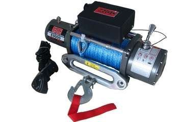 Engo 77-09000S 9000 Lbs. Electric Winch 12 Volt With Synthetic Rope
