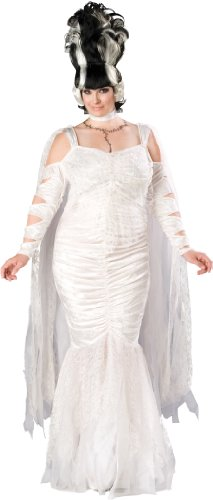 InCharacter Costumes, LLC Monster Bride Full Length Gown, White, XX-Large