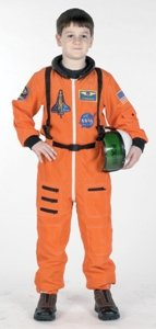 Astronaut Suit Orange 4-6 Child Costume