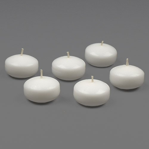 White Floating Candles Set of 36 Wedding Party Favor