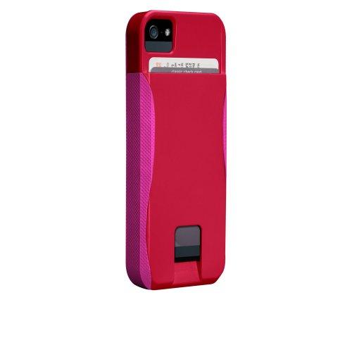 Case-Mate 日本正規品 iPhone5 POP! ID Case, ルビーレッド/ショッキングピンク 【カードホルダーつき ハイブリッド・ハードケース】 CM022410