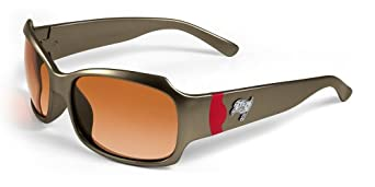 NFL Tampa Bay Buccaneers Bombshell Sunglasses with Bag, Pewter Red by Maxx