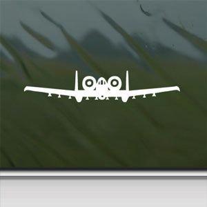 A 10 Thunderbolt Ii Warthog Front White Sticker Decal Car Window Wall Macbook Notebook Laptop Sticker Decal
