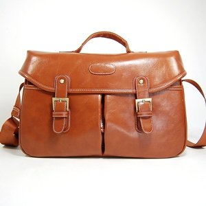 Cosmos Vintage Brown Shoulder Pu Leather Camera Bag/deluxe Photo/video Camera Gadget Bag for Canon Nikon Sony Olympus Kodak Panasonic Fuji Digital Cameras Dslr + Cosmos Cable Tie