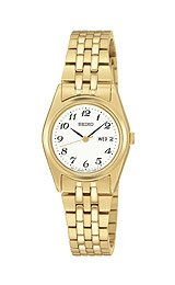 Seiko Women's Gold-tone Stainless Steel Watch #SXA126