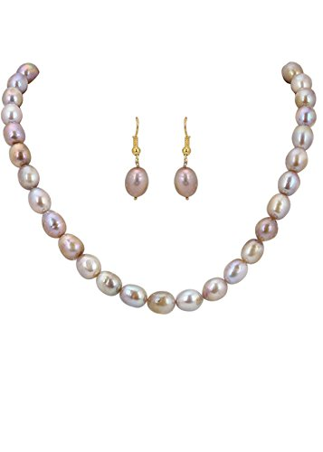 Golden Pearls Necklace Set (yellow)