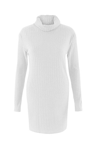linemoon-womens-sexy-high-collar-long-sleeve-knitted-sweater-dress-white-s
