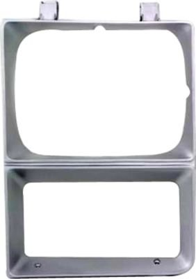 Evan-Fischer EVA18972010762 Headlight Door Single Driver Side LH Grill Extension Grille headlamp Bezel Molding Moulding trim Silver With parking light hole (Chevrolet C1500 Door Moulding compare prices)