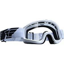 Fly Racing Focus Adult Goggle - White With Clear Lens - 37-2204